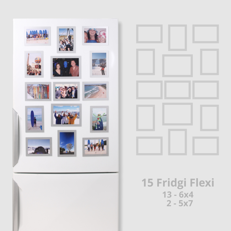 See how good a mix of magnetic frames can look on your fridge
