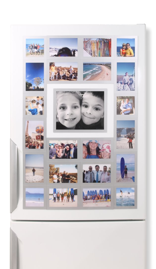 Fridgi Flexi Magnetic Photo Frames - 6 sizes & 3 colours